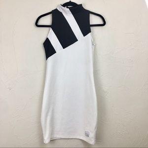 Adidas EQT Black and White Mesh Mini Dress Small